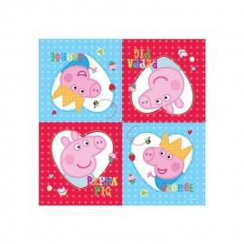 Peppa Pig feestartikelen servetten (16st)