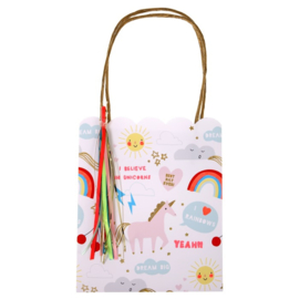 Regenbogen en eenhoorns feestartikelen - cadeau tasjes (8st)