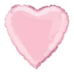 Folie/ helium ballon hart zacht roze