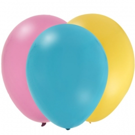 EMOJI feestartikelen - ballonnen roze (12st)