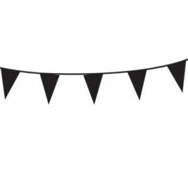 Vlaggenlijn/ vlagslinger zwart (10m)