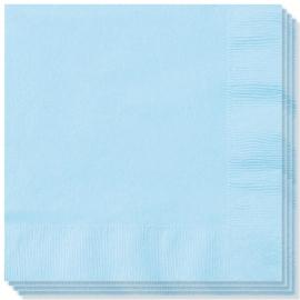 Feestartikelen zachtblauw - servetten (20st)