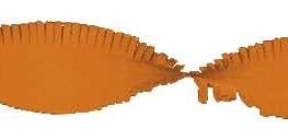 Crepe slinger oranje 24 meter