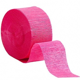 Crepe Streamer magenta roze (2st)