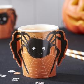 Spooky Spider Halloween feestartikelen - bekers (8st)