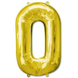 XL Folieballon (92cm) Cijfer 0 | Goud