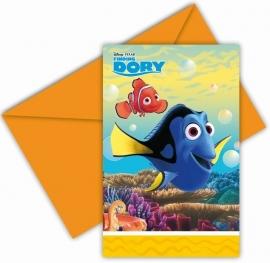 Finding Dory feestartikelen - uitnodigingen (6st)