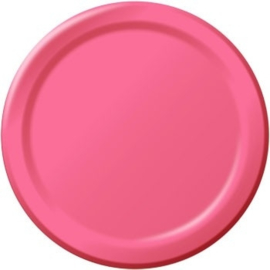 Roze feestartikelen papieren borden (16st)