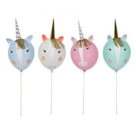 Regenbogen en eenhoorns feestartikelen - Unicorn ballonnen set