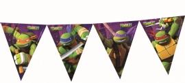 Ninja Turtles feestartikelen vlaglijn/ slinger