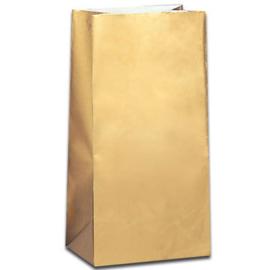 Partybag/ feestzakjes goud (10st)