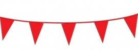 Vlagslinger/ vlaggenlijn rood (10m)