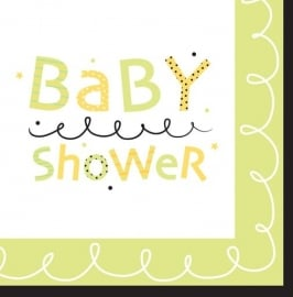 """Stroller Fun"" babyshower lunch servetten (16st)"