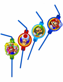 Super Mario feestartikelen - rietjes (8st)