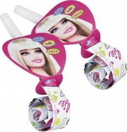 Barbie Fab feestartikelen roltongen (6st)