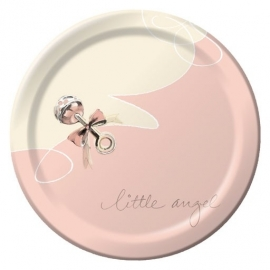 Little Angel babyshower feestartikelen gebaksbordjes (8st)