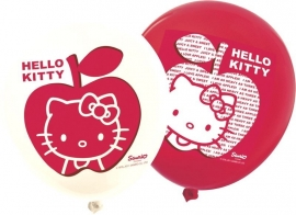 Hello Kitty Apple feestartiklen ballonnen (12st)