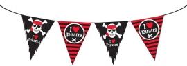 Piraten feestartikelen vlaggenlijn slinger