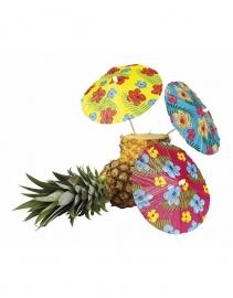 Luau/ Hawaii themafeest ijs parasols prikkers groot (6st)