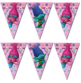 Trolls feestartikelen - vlaggenlijn/ slinger