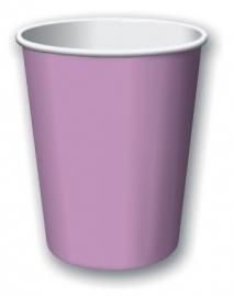 Feestartikelen Lavendel Paars/ Lila - bekers (14st)