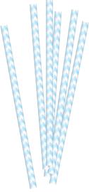 Papieren rietjes zachtblauw (20st)