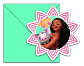Disney Vaiana/ Moana feestartikelen - uitnodigingen (6st)