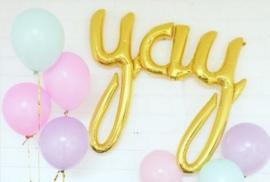 NORTHSTAR folieballon/ tekstballon YAY goud