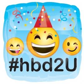 EMOJI feestartikelen folie ballon Happy Birthday