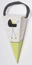 """Stroller Fun"" babyshower favor bag (6st)"