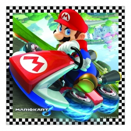 Super Mario Mariokart kinderfeest - servetten (20st)