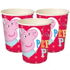 Peppa Pig feestartikelen bekers (8st)