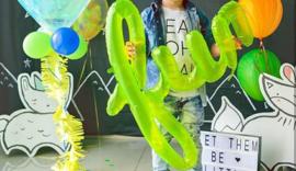NORTHSTAR mylar ballon/ tekstballon FUN lime