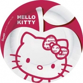 Hello Kitty Apple feestartikelen bordjes (8st)