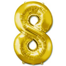 XL Folieballon (92cm) Cijfer 8 | Goud