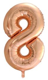 XL Folieballon (92cm) Cijfer 8 | Rose Gold