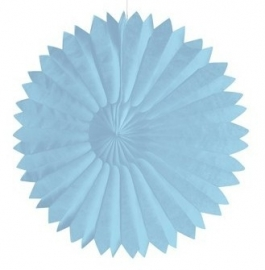 Honeycomb tissue fan pastel blauw