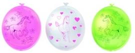 Paarden feestartikelen - ballonnen ((6st)