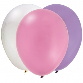 """Tiny Toes Pink"" babyshower ballonnen (12st)"
