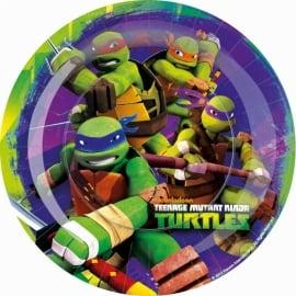 Ninja Turtles feestartikelen borden (8st)