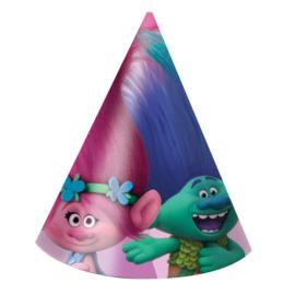 Trolls feestartikelen - feest hoedjes (6st)