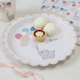 Little One babyshower versiering - bordjes (8st)