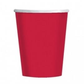 Effen kleur tafelgerei Rood bekers (8st)