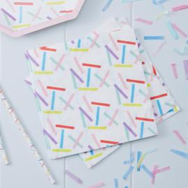 Pick & Mix feestartikelen - Confetti Sprinkles servetten (20st)