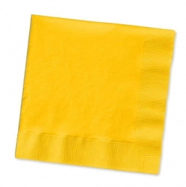 Effen kleur tafelgerei Geel servetten (20st)
