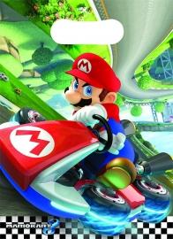 Super Mario Mariokart feestartikelen - feestzakjes (8st)