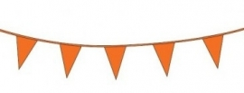 Vlaggenlijn/ vlagslinger oranje (10m)