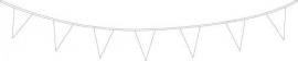 Vlaggenlijn/ vlagslinger wit (10m)