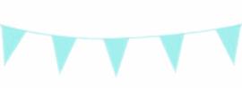 Vlagslinger/ vlaggenlijn zachtblauw (10m)