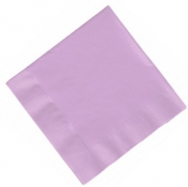 Feestartikelen Lavendel Paars/ Lila - servetten (20st)
